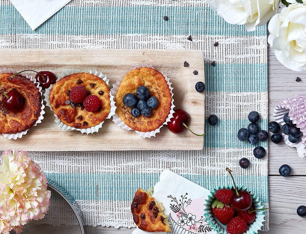 Muffin senza glutine ai frutti di bosco