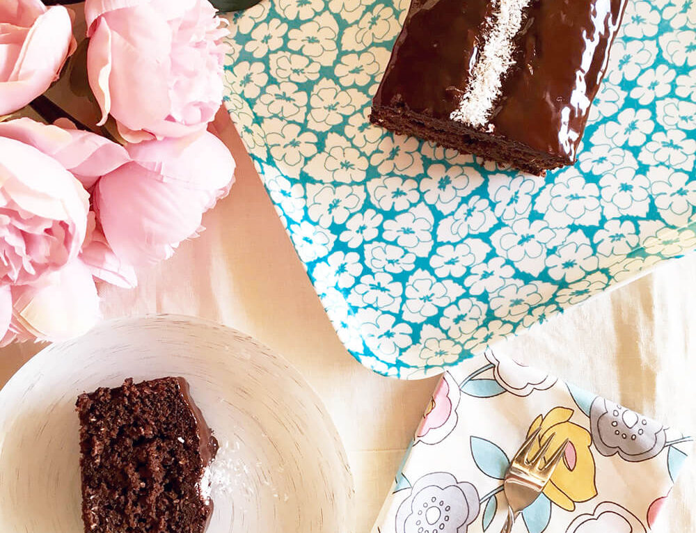 Torta light al cocco e cioccolato fondente